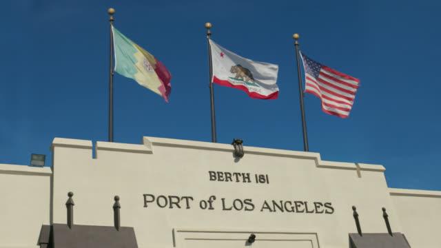 vídeos y material grabado en eventos de stock de port of los angeles - puerto de los angeles