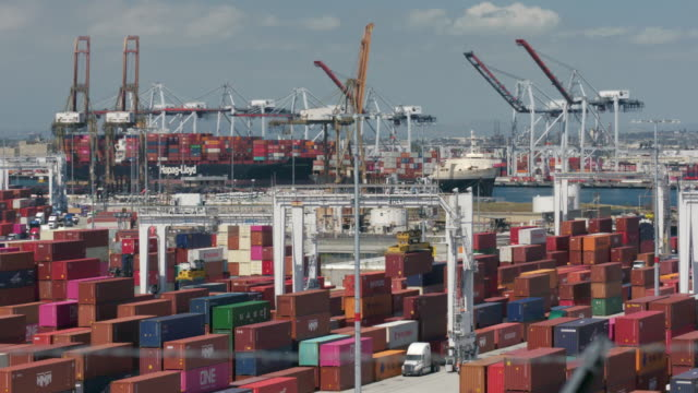 port of los angeles - port of los angeles stock videos & royalty-free footage