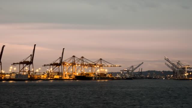 Port of Seattle in Seattle  timelapse