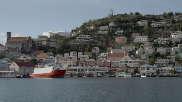 port of st george's / greanda, carribbean - st. george's grenada stock videos and b-roll footage
