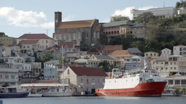 port of st george's / grenada, carribbean - st. george's grenada stock videos and b-roll footage