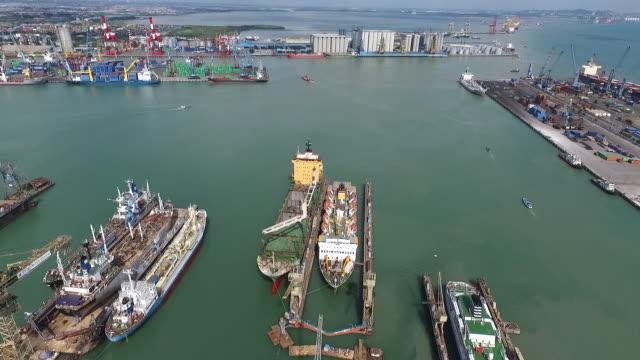 port of tanjung perak surabaya. - surabaya stock videos & royalty-free footage