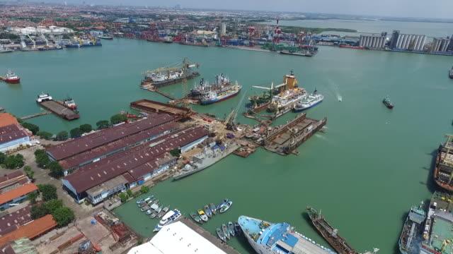 port of tanjung perak surabaya. - indonesia stock videos & royalty-free footage