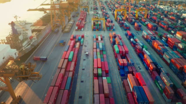 port of thailand - box container stock videos and b-roll footage