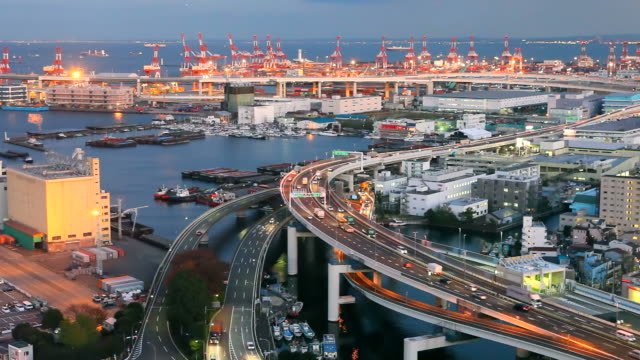 Port of Yokohama in Japan
