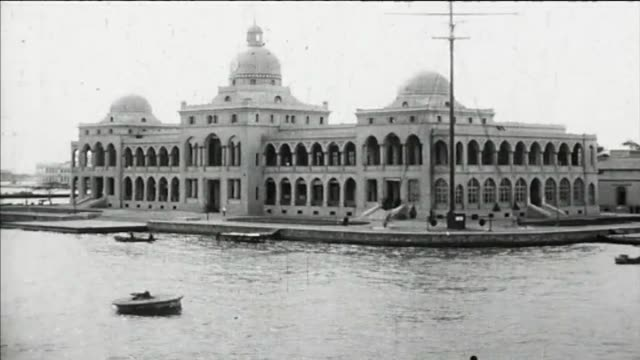 1925 port said - sailing into harbor on way to suez canal - port said stock videos & royalty-free footage