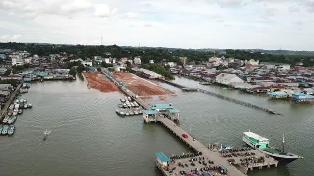 port tarakan, borneo. - kalimantan stock videos and b-roll footage