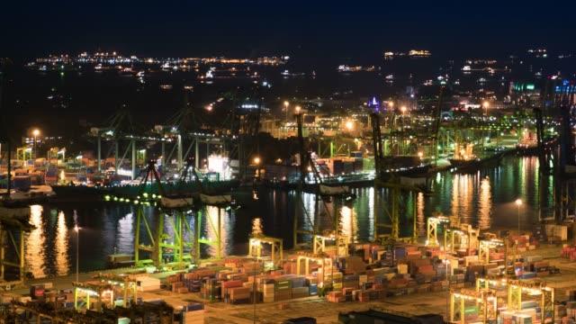 港湾作業貨物コンテナタイムラプス - 関税点の映像素材/bロール