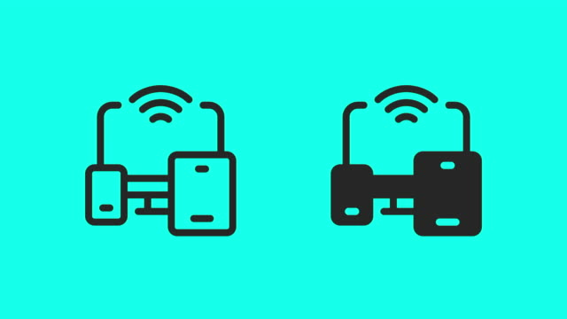 portable wireless device icons - vector animate - multimedia stock videos & royalty-free footage