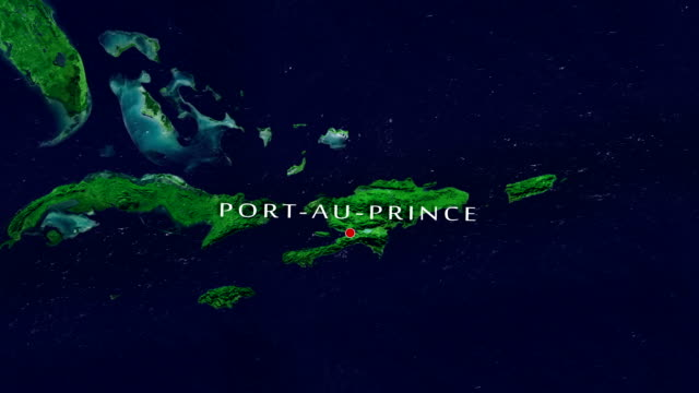 port-au-prince 4k  zoom in - haiti stock videos & royalty-free footage