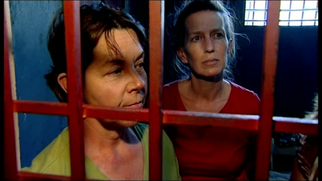 port-au-prince: int us baptist missionary charity workers stand behind bars of prison cell laura silsby interview sot - we came to help children that... - missionary stock videos & royalty-free footage
