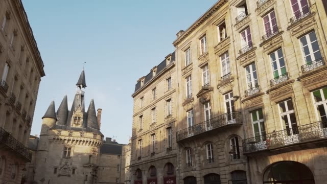 porte cailhau, bordeaux - gothic style stock videos & royalty-free footage