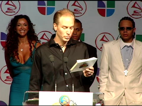 porter announces latin grammy nominees at the 2005 latin grammy awards nominations at the music box theater in hollywood, california on august 23,... - latin grammy awards stock videos & royalty-free footage