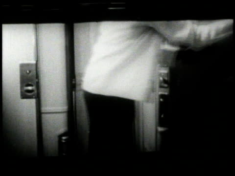 1950 montage porter opening up bed in sleeper compartment / united states - porter stock videos & royalty-free footage