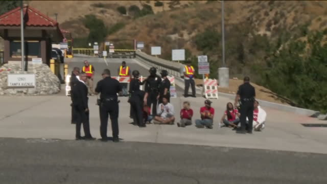 KTLA Porter Ranch Protesters Demand Closure of Aliso Canyon Facility