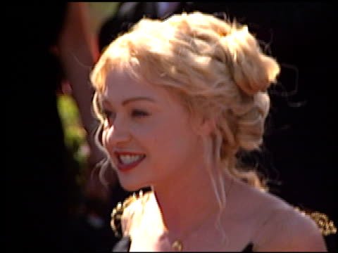 portia de rossi at the 1999 emmy awards at the shrine auditorium in los angeles california on september 12 1999 - portia de rossi stock videos and b-roll footage