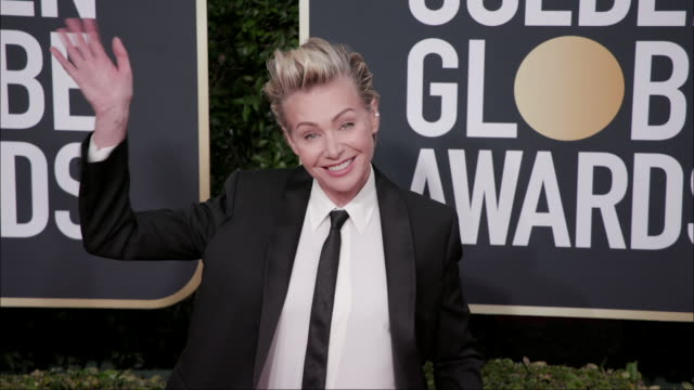 portia de rossi at the 77th annual golden globe awards at the beverly hilton hotel on january 05 2020 in beverly hills california - the beverly hilton hotel stock-videos und b-roll-filmmaterial