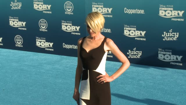 portia de rossi at the finding dory los angeles premiere at the el capitan theatre on june 08 2016 in hollywood california - portia de rossi stock videos and b-roll footage