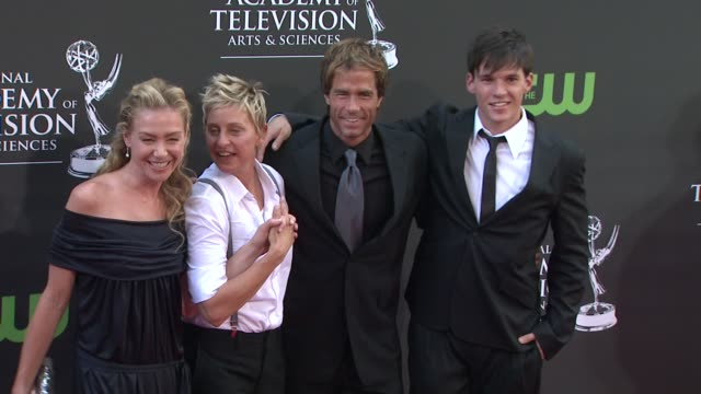 Portia de Rossi Ellen DeGeneres and guests at the 36th Annual Daytime Emmy Awards at Los Angeles CA