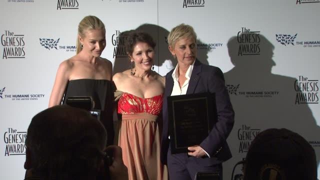 Portia de Rossi Ellen DeGeneres at the 23rd Genesis Awards at Los Angeles CA