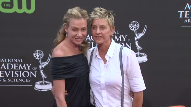 Portia de Rossi Ellen Degeneres at the 36th Annual Daytime Emmy Awards at Los Angeles CA