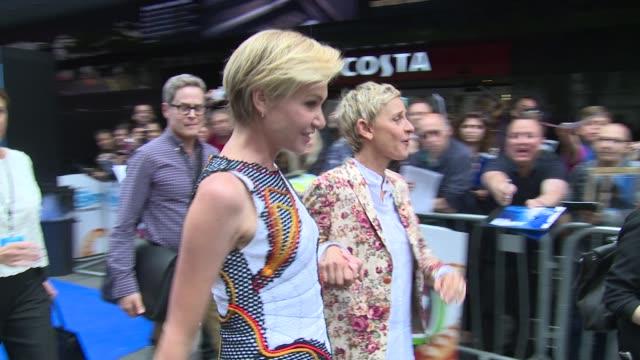 Portia de Rossi Ellen DeGeneres on July 10 2016 in London England