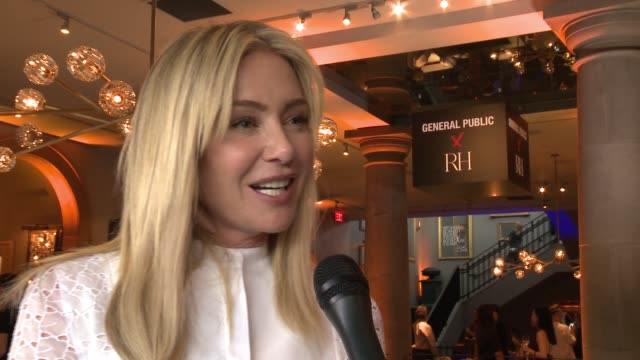 interview portia de rossi on congratulations on general public what can you tell me about your new art business on tell us about general public's... - portia de rossi stock videos and b-roll footage