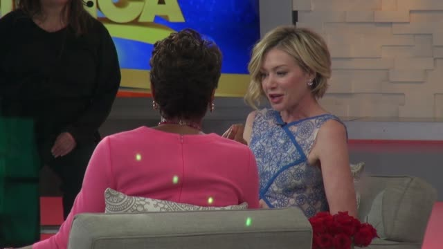 Portia de Rossi on the set of the Good Morning America show at Celebrity Sightings in New York on February 12 2015 in New York City
