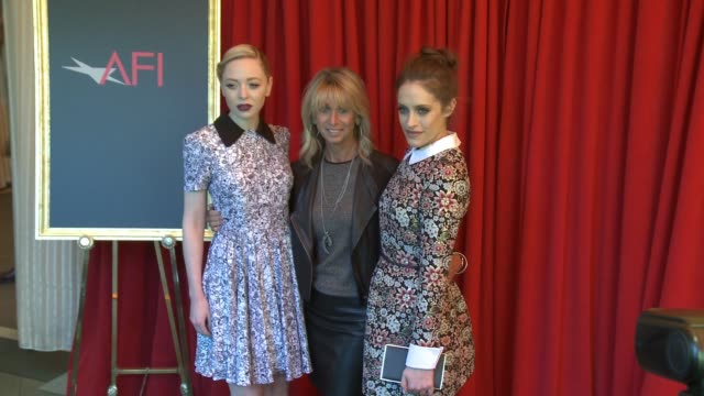 Portia Doubleday Bonnie Hammer and Carly Chaikin at the 16th Annual AFI Awards at the Four Seasons Hotel Los Angeles at Beverly Hills on January 08...