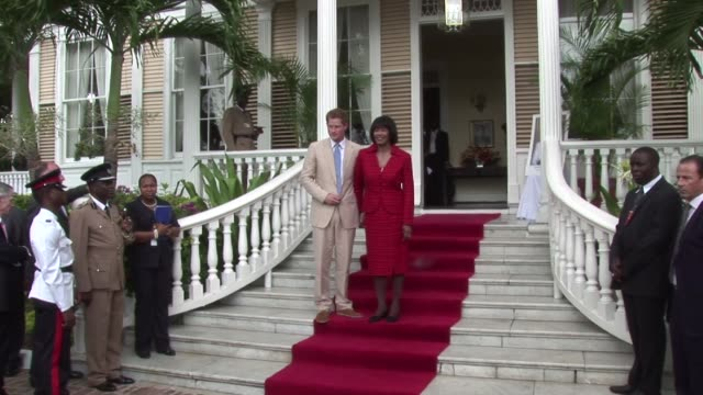portia simpson miller on day two of his tour to mark the queen's diamond jubilee year the prime minster has recently called for jamaica to become a... - emma brumpton stock videos & royalty-free footage