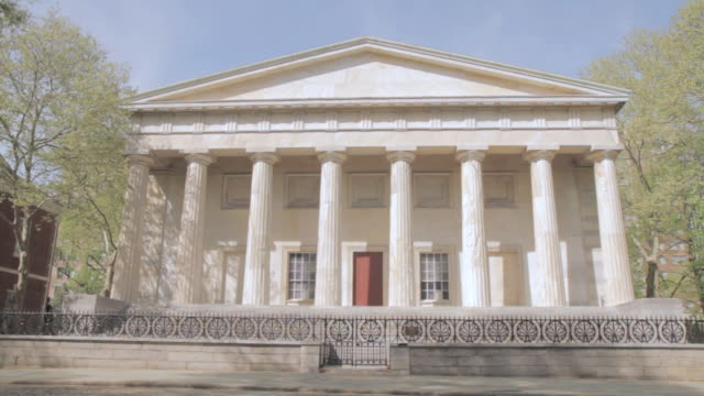 LA Portico, columns, and pediment of Second Bank of the United States / Philadelphia, Pennsylvania, United States