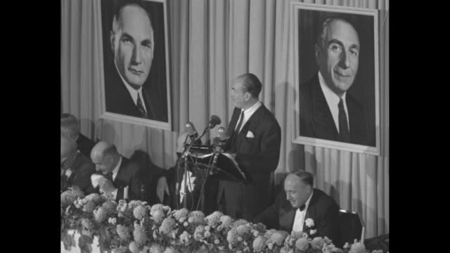portion of speech given by jack l warner at dinner honoring him and his brothers - warner bros stock videos & royalty-free footage
