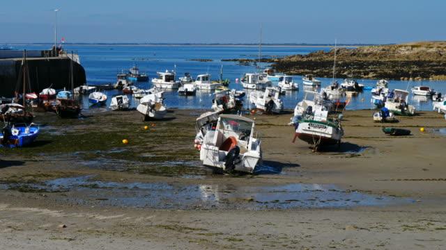 portivy, quiberon pensula, morbihan, brittany, france - low tide stock videos & royalty-free footage