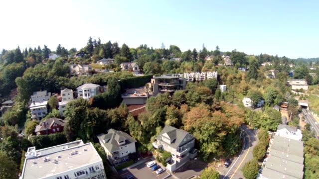 vidéos et rushes de vue aérienne des environs de portland - portland oregon