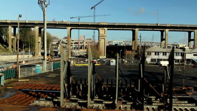 portland arial video - fiume willamette video stock e b–roll