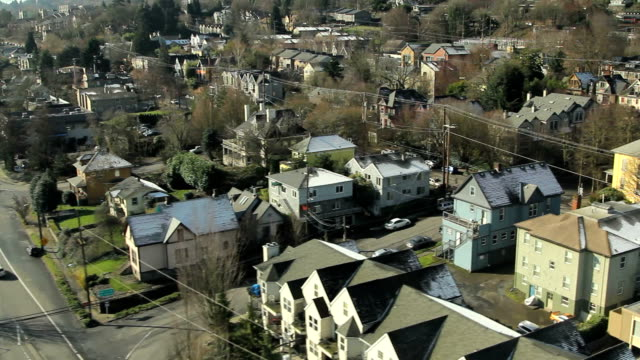 portland arial video - portland oregon stock videos & royalty-free footage