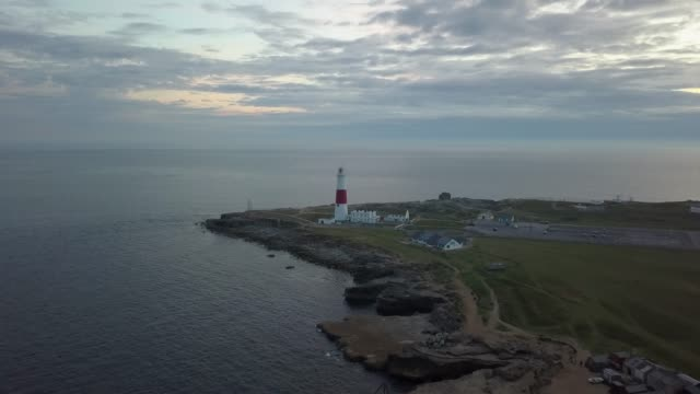 portland bill lighthouse at dusk, dorset - cornwall england stock videos & royalty-free footage
