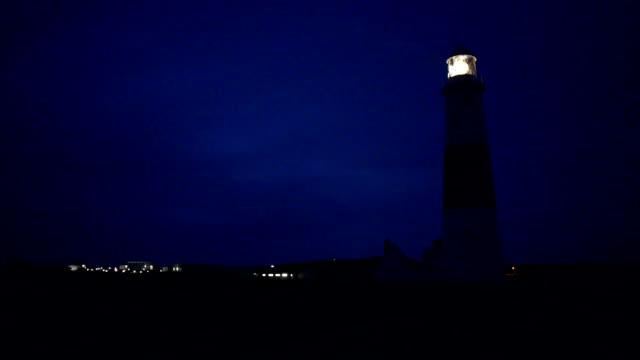 Portland Bill Lighthouse at night