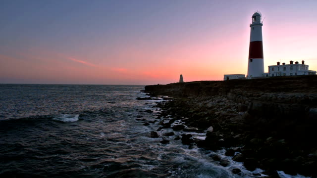 Portland Bill lighthouse at sunset