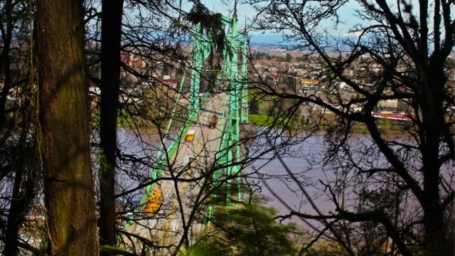 ポートランドブリッジズ - ポートランド セントジョンズ橋点の映像素材/bロール