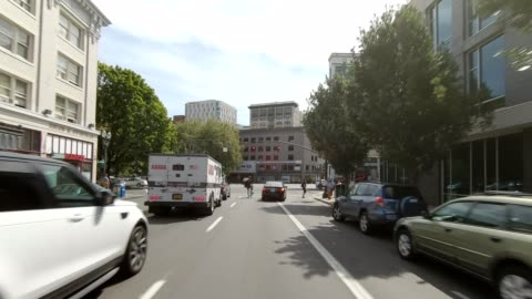 portland city vi synced series front view driving process plate - oregon us state stock videos & royalty-free footage