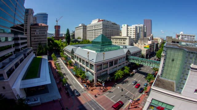 portland city - pioneer square portland stock videos & royalty-free footage