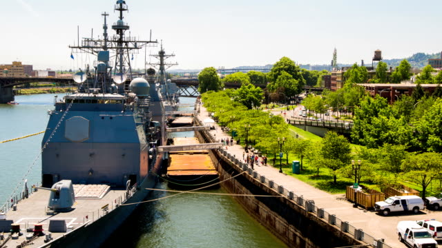 portland city - warship stock videos & royalty-free footage