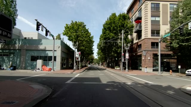 portland city xiii synced series front view driving process plate - portland oregon summer stock videos & royalty-free footage