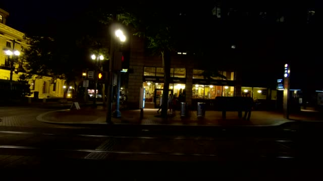 portland city xv synced series right view driving process plate - pioneer square portland stock videos & royalty-free footage
