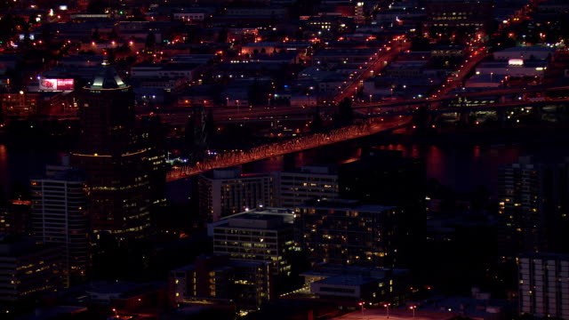 Portland cityscape night time