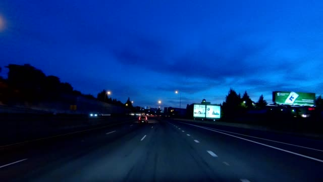 portland expressway iv synced series front view driving process plate - portland oregon summer stock videos & royalty-free footage