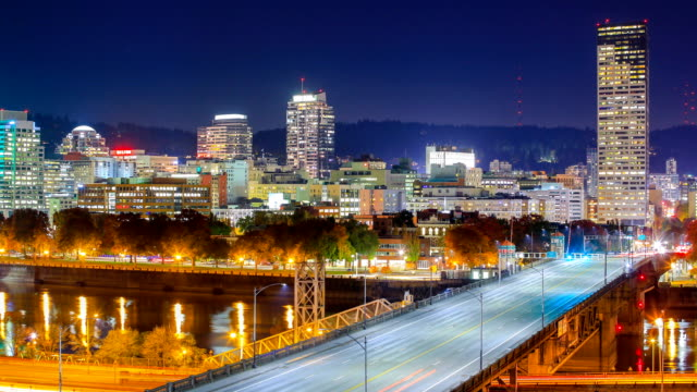 portland, or - portland oregon sunset stock videos & royalty-free footage