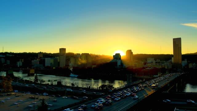 ポートランド、オレゴン - オレゴン州 ポートランド点の映像素材/bロール