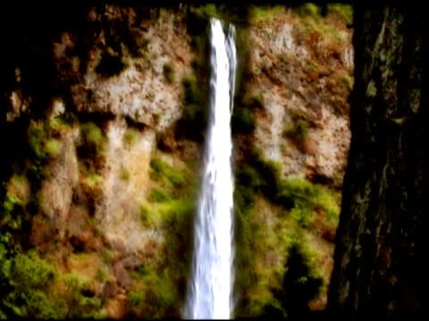 portland, oregon, multnomah falls - portland oregon fall stock videos & royalty-free footage